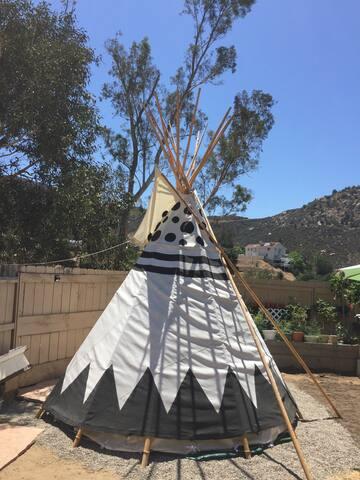 Spirit Sky Tipi @ Mystic Canyon Inn - El Cajon