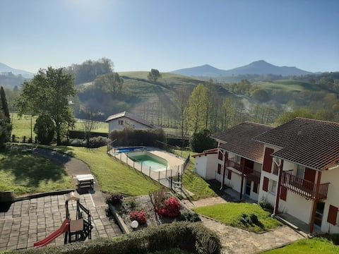 Accommodation in Basque country with heated pool