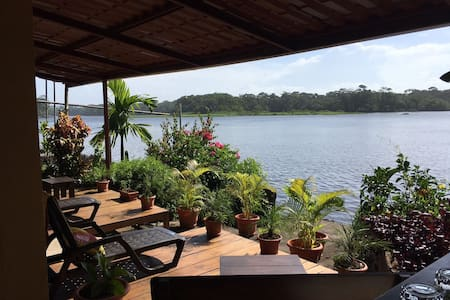 Sunset Room A - River view and garden terrace - Tortuguero