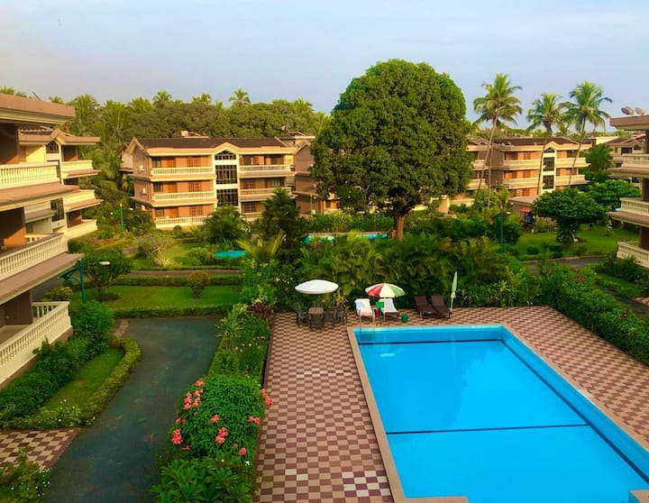 2 Bedroom Apartment | Candolim | Swimming Pool