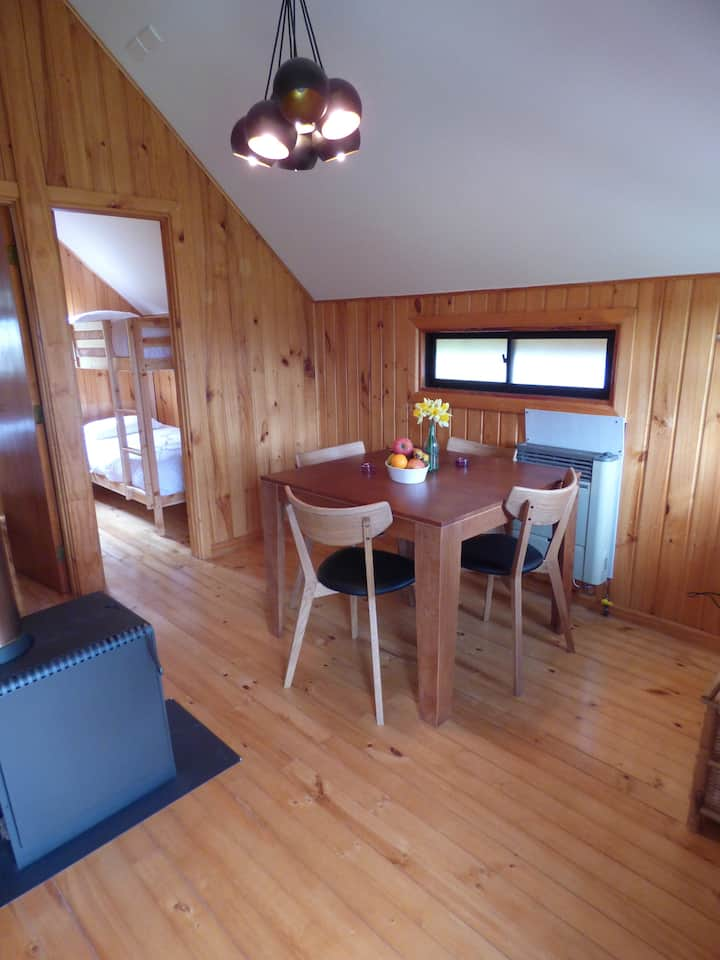 Cabaña 4 prs. orillas río Maullín