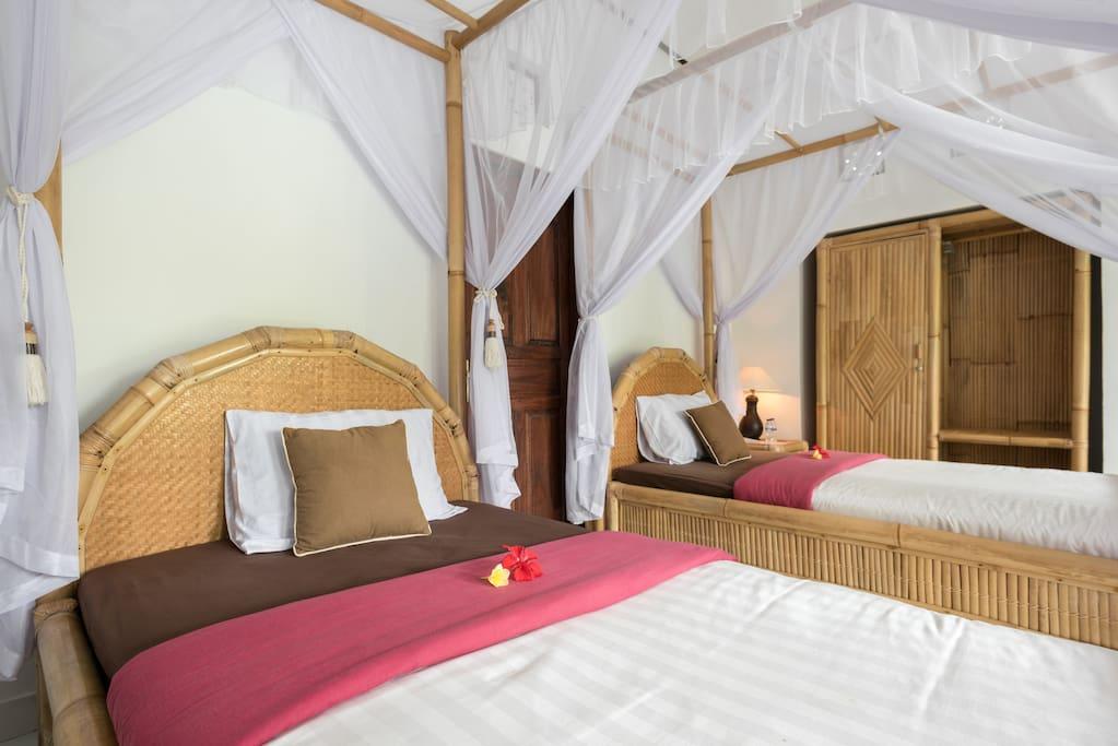 Two single bed villa