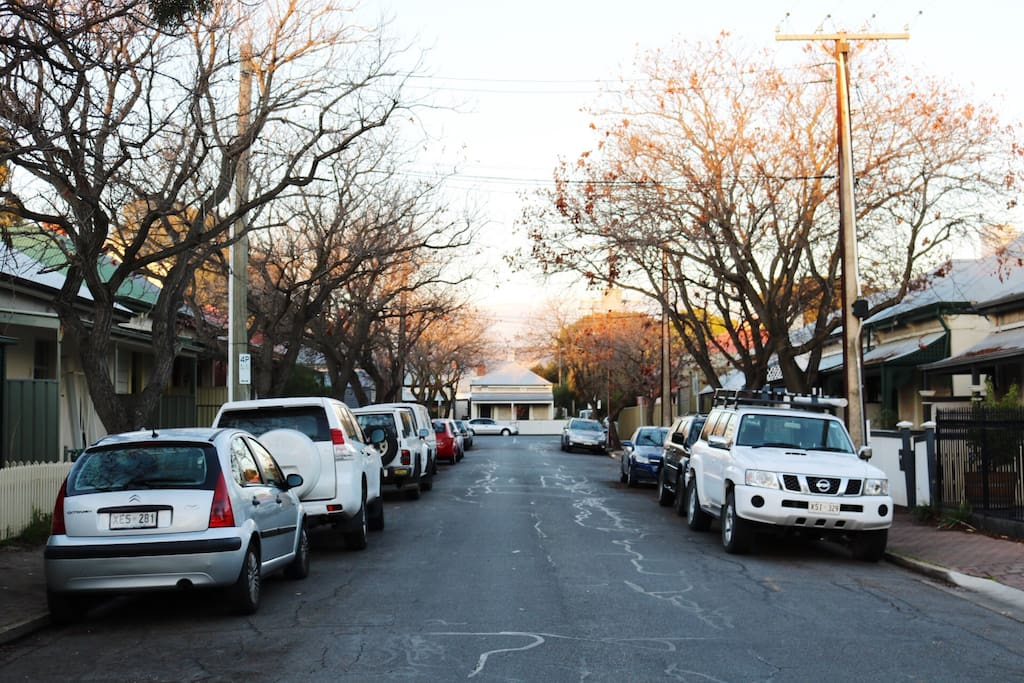 Quiet street with plenty of parking