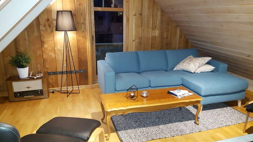 Sjarmerende  loftsleilighet,fantastisk fjordutsikt