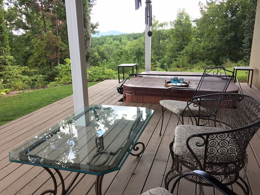 Your Deck with Hot Tub &  Mountain Views