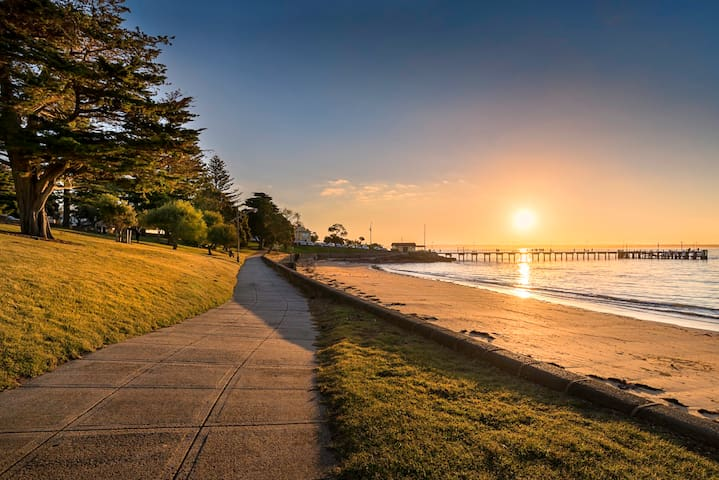 The beach is just over the road, take a long walk along or on the beach, stunning at sunset