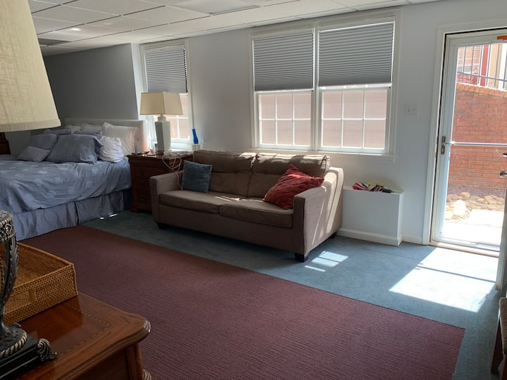 Entire Terrace Apt King Bed 1000+ roomy sq ft