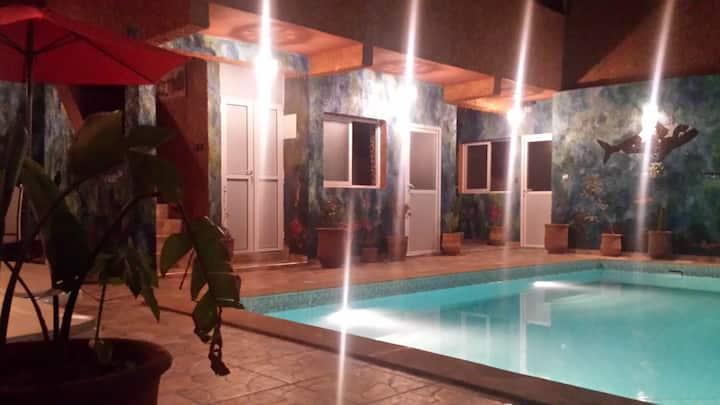 Chambre double vue sur piscine 4