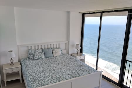 Ocean-Front Beach Condo with Ocean and Bay views