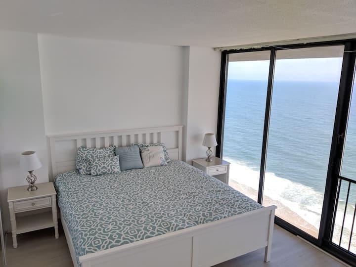 Ocean-Front Beach Condo with Ocean and Bay views
