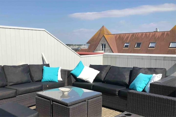 Nieuwpoort: Exclusive Penthouse duplex & roof top