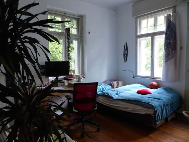 Helles Zimmer mit Balkon in WG am Rathsberg