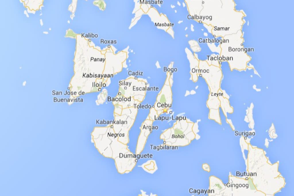 This is the location map of Cebu when in the Philippines
