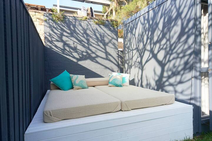 Day-bed perfect for working on the tan or spotting the stars at night.