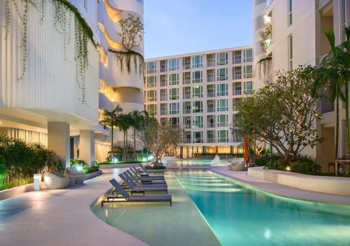 Central 500M New Brand pool view 1BR