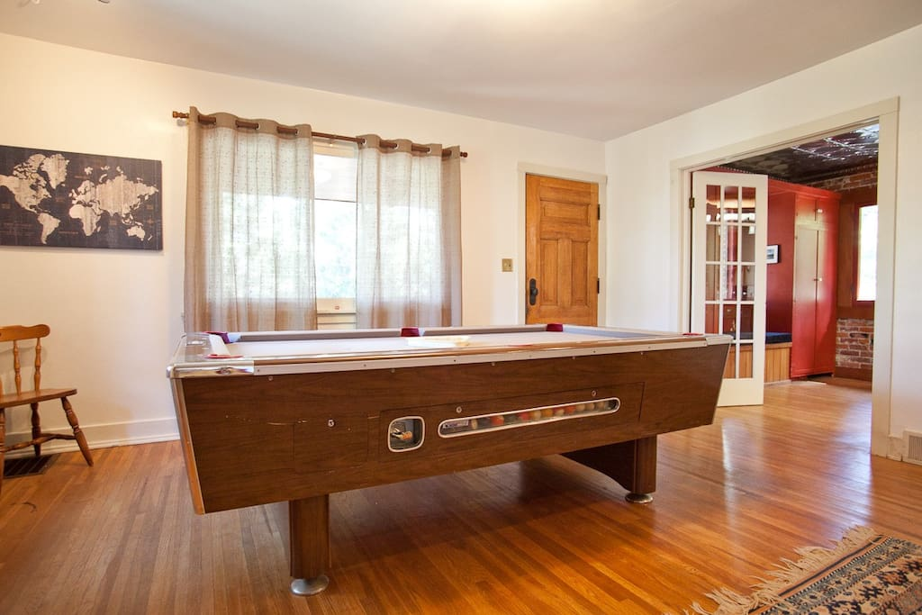 Pool table in upstairs living room.