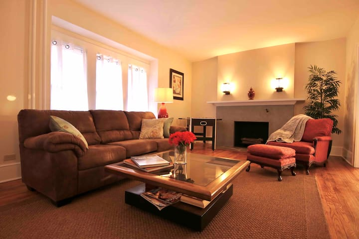 Large comfortable living room, great for relaxing or having fun with friends and family!