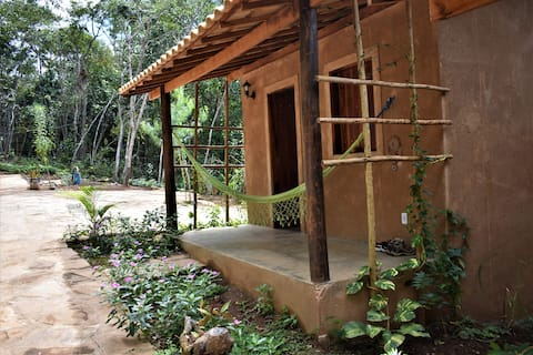 Eco Bungalow (dry toilet, kitchenette, BBQ place)