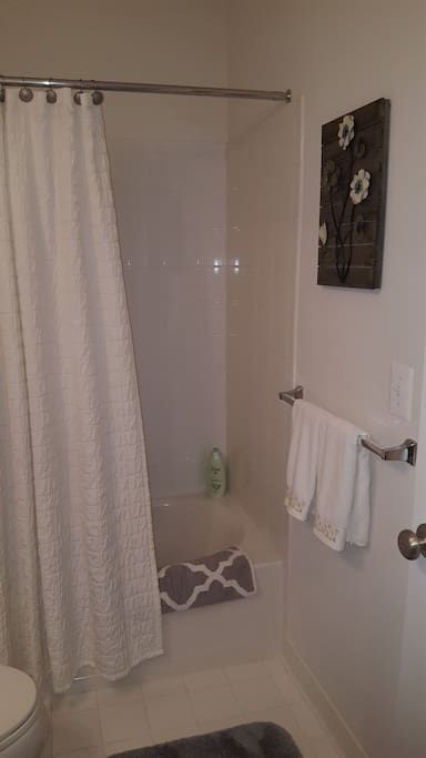 Fresh and clean private bathroom.