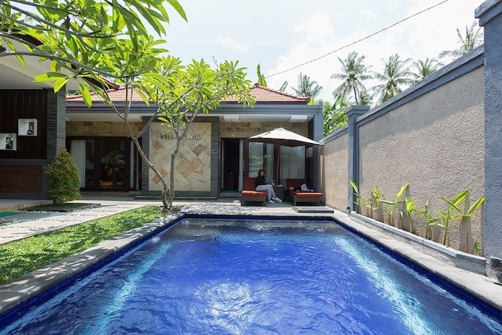 LOVINA villa 2 bd with pool - tranquil villa