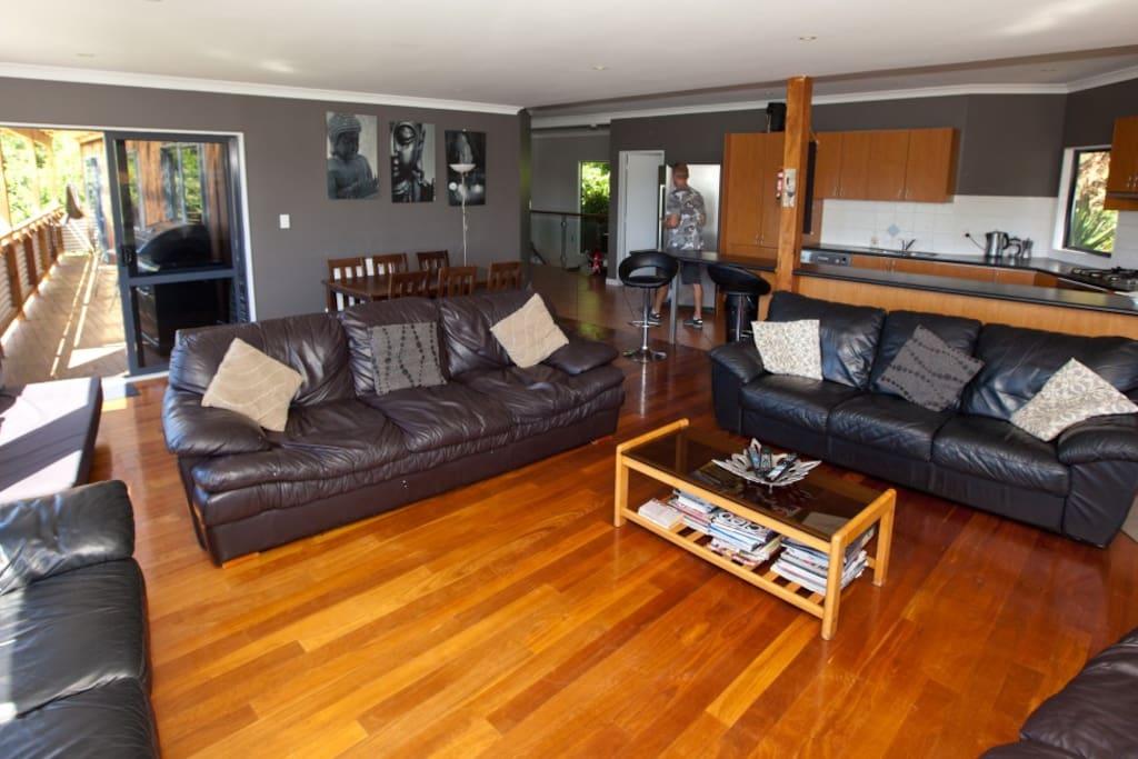 Huge open plan lounge/kitchen