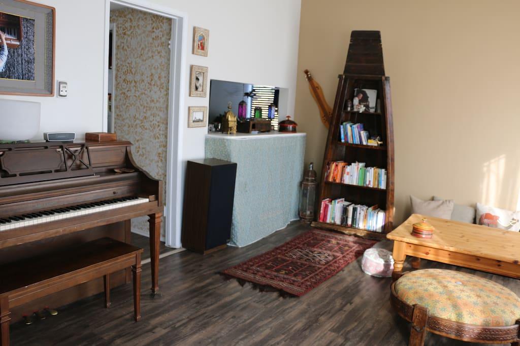 Piano, TV, Travel Books
