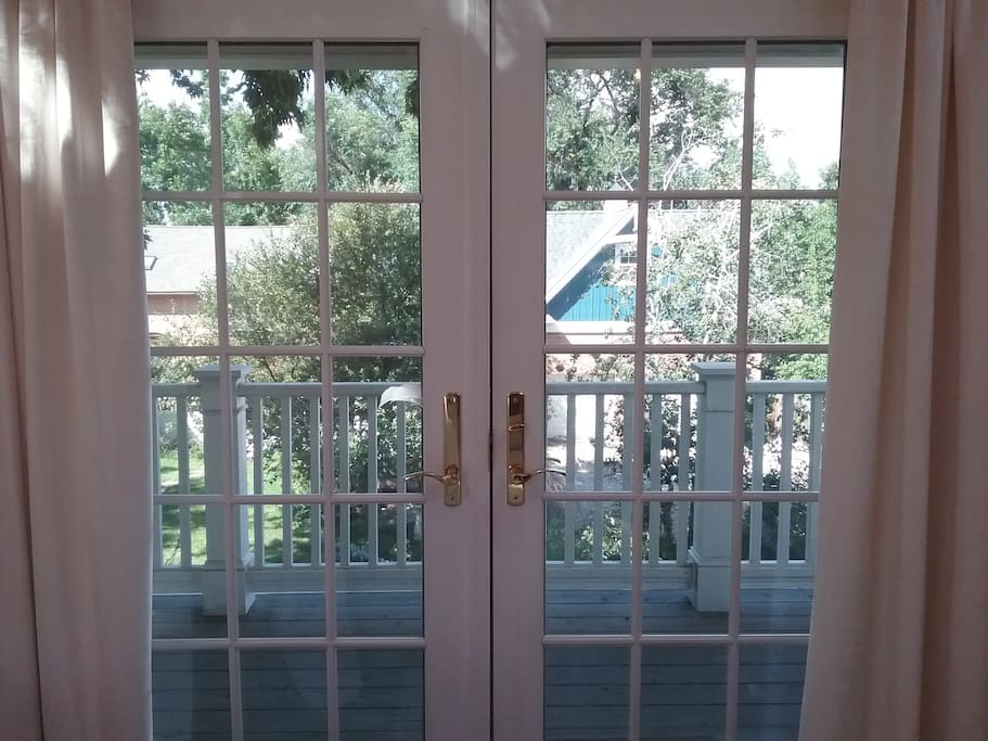 View through Balcony doors