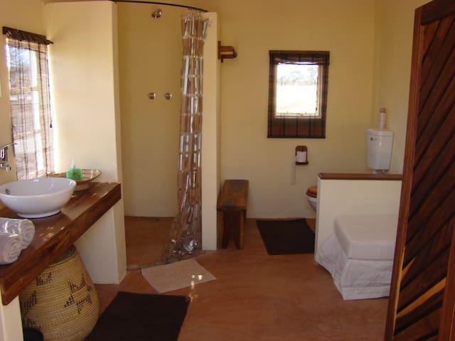 Gemsbuck cabin bathroom.