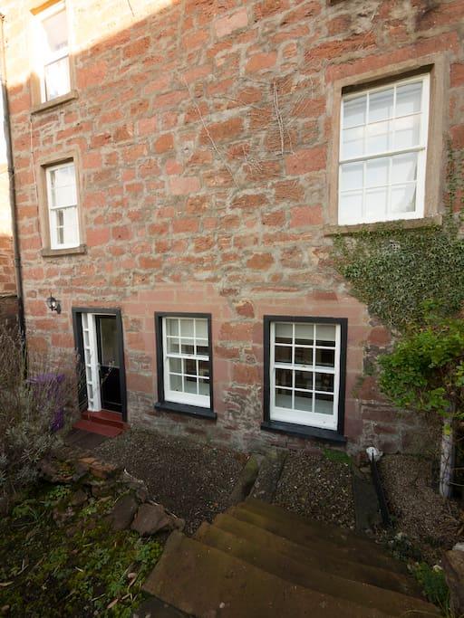 back door leading to garden