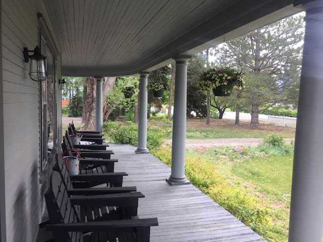 Front porch sitting is ample!