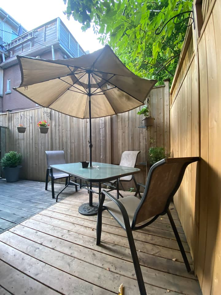 King East Gem with private back patio!!