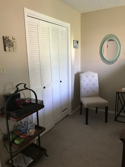 Full Size Closet, Dresser and  Coffee readily available  in your room and in the kitchen