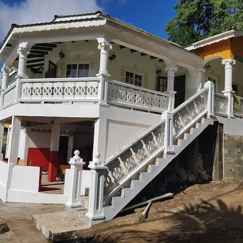 three bedroom fully furnish villa with pool