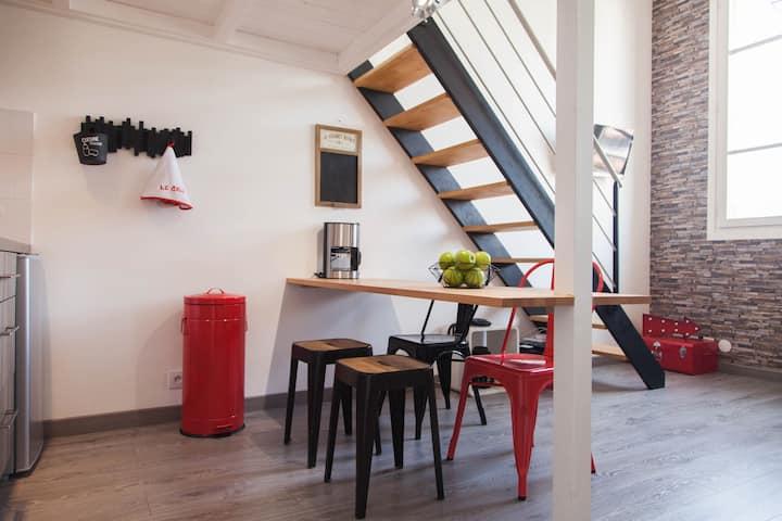Studio confortable,  décoré avec style Sur le Port