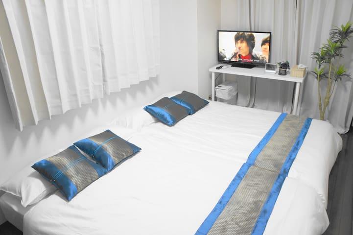 New at Dotonbori Namba 2mins to Sta+WIFI TV 4ppl - Chuo Ward, Osaka