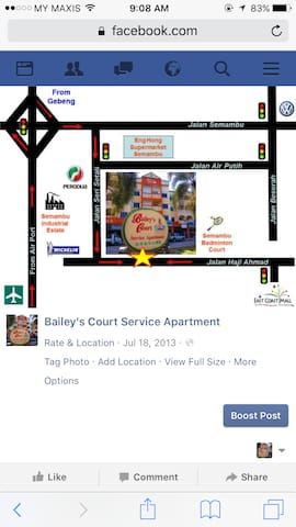 Baileys Court Service Apartment - Kuantan - Lejlighed