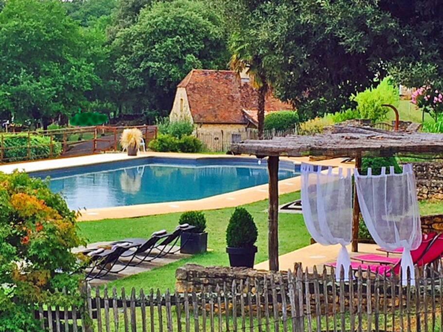 Notre piscine. Calme et beauté.