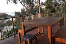 Ocean & Hinterland views from full length spacious deck and outdoor living area