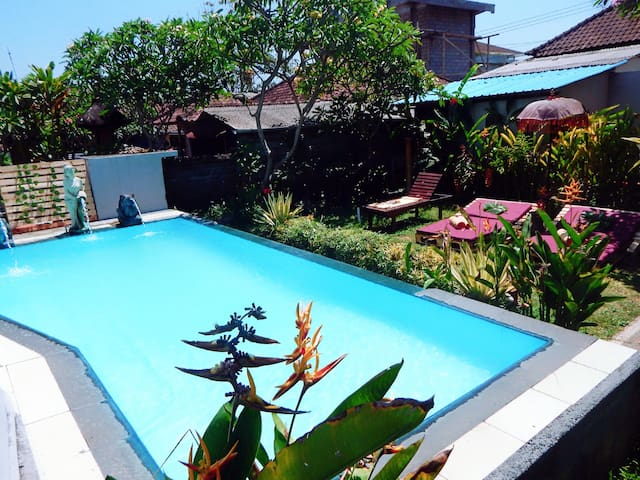 House with 4bedrooms pool with ricefield view