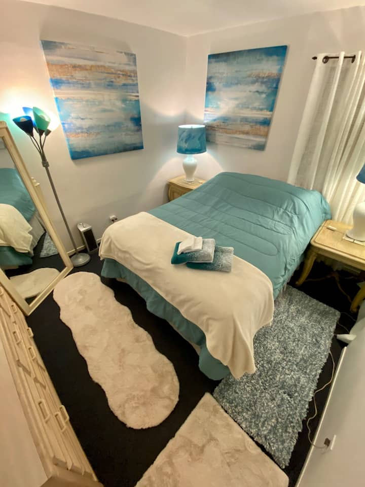 Queen Bed/Wifi/NFLX/HULU/Wall TV/Near Bch/LA/Lax