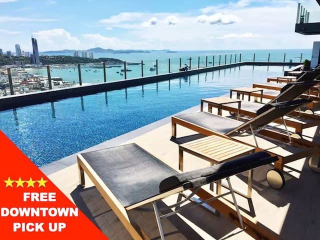 ★ New Modern ★Sea View Room|Downtown |Rooftop Pool