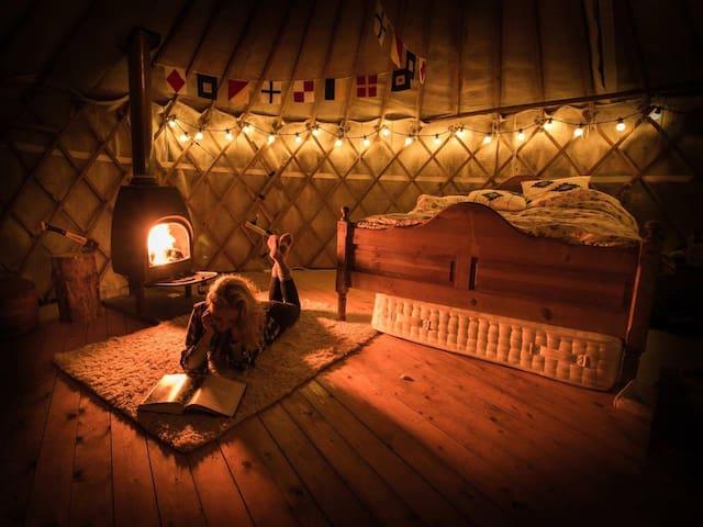 Tobermory Yurt with swimming pool