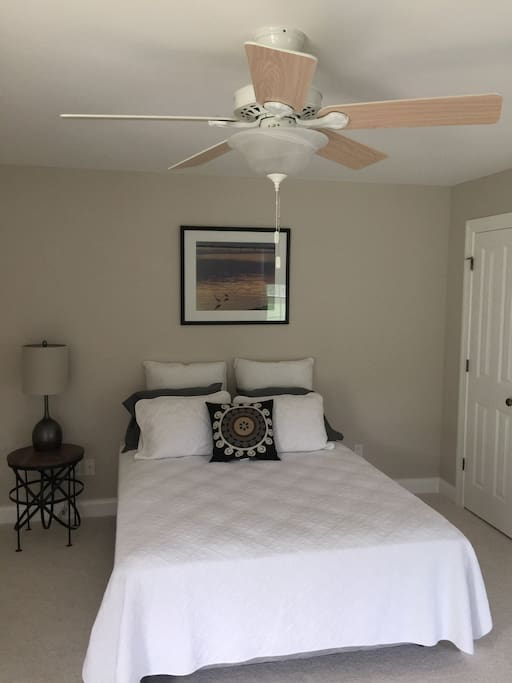 One of two first floor bedrooms with adjoining full bathroom for each Master bedroom