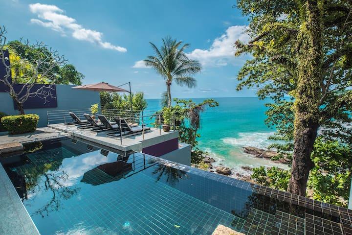 Surin 4 rm super Seaview Cliff Villa infinite pool