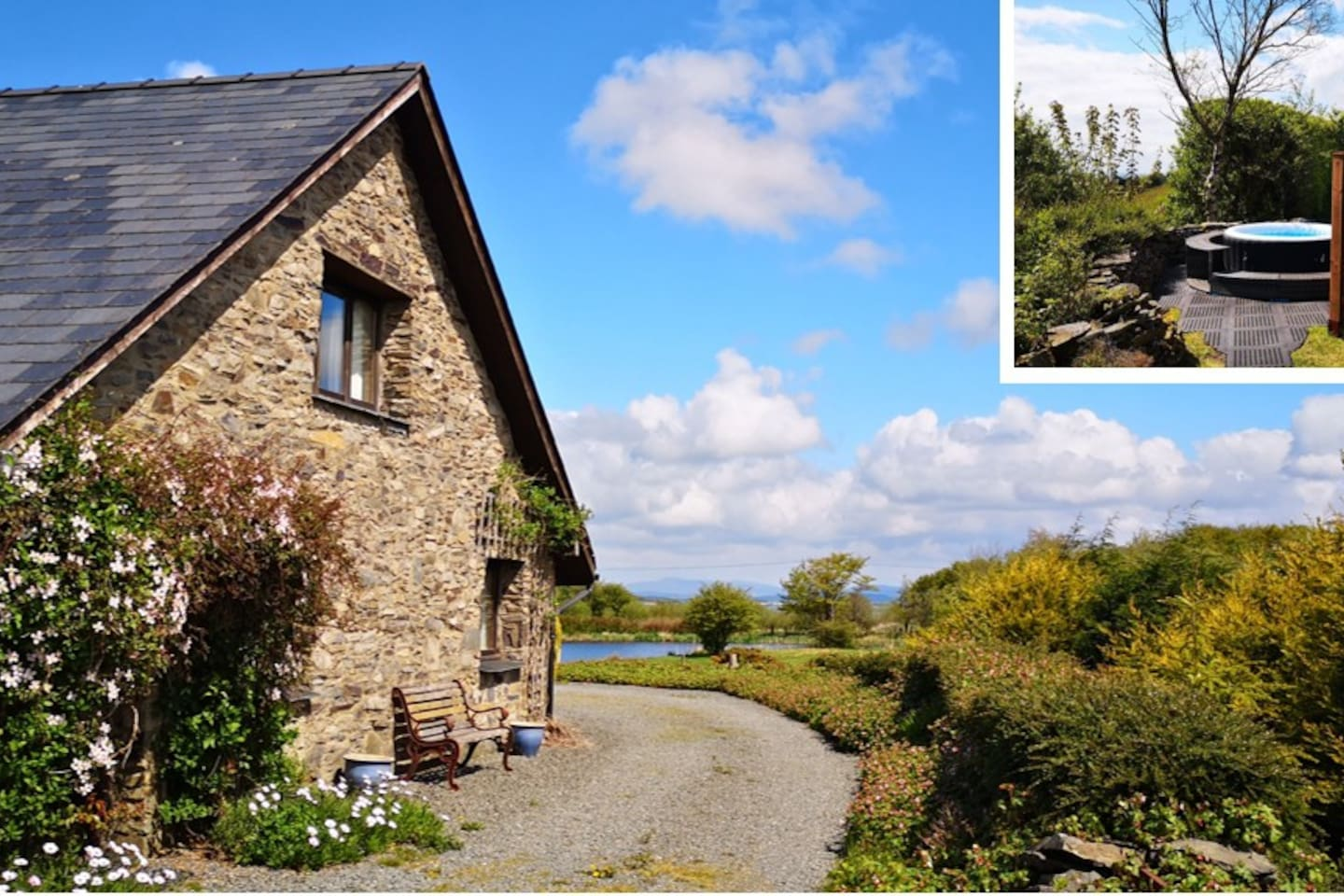 welsh cottage with hot tubs