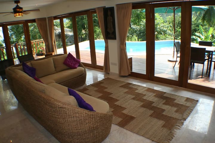 Relax indoors with amazing views