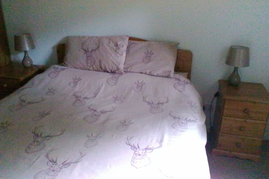 Large double bedroom with wardrobe and dressing table