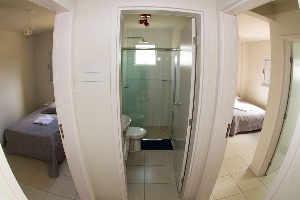 Vista da sala para os quartos