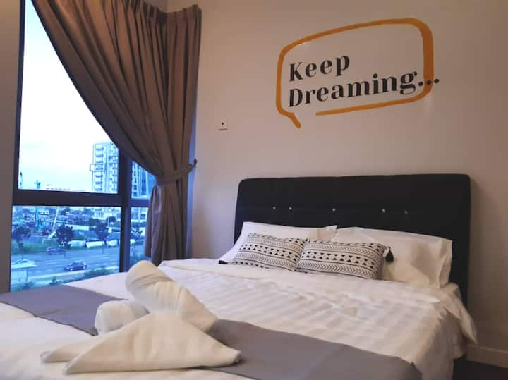 PROMO VALUE! HAPPY LOFT 3pax@IMAGO 窝心一室高级公寓在沙巴最大商场