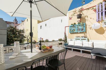 New ! Sweet Terrace Apartment - Lisboa - Lägenhet